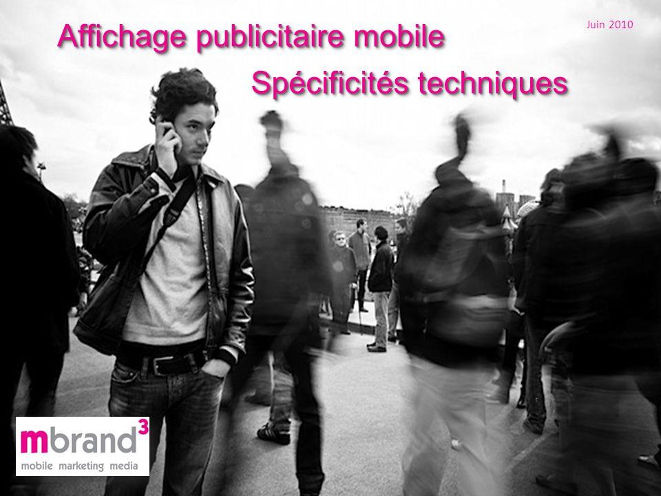 Affichage publicitaire mobile