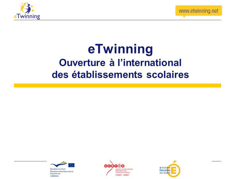 eTwinning Ouverture à l'international des établissements scolaires