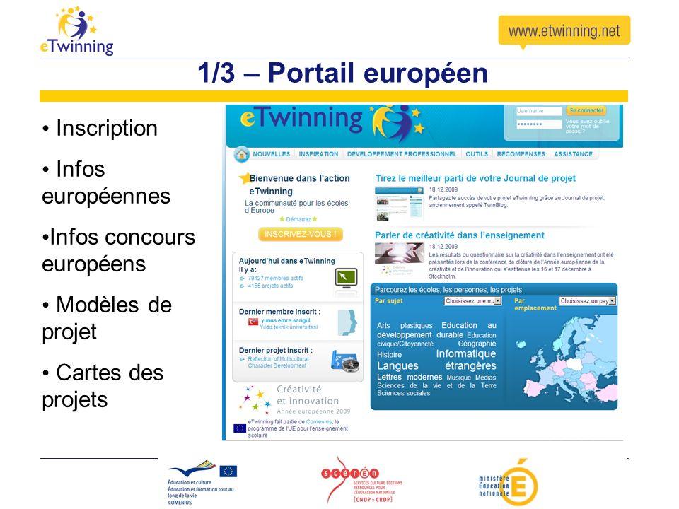 1/3 – Portail européen Inscription Infos européennes