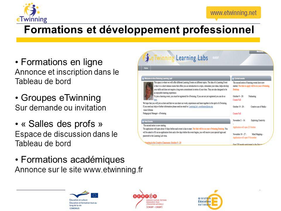 Formations et développement professionnel