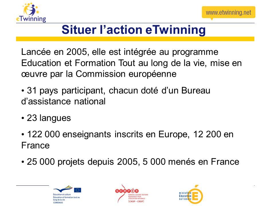 Situer l'action eTwinning
