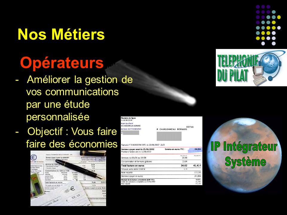 Opérateurs Nos Métiers IP Intégrateur Système
