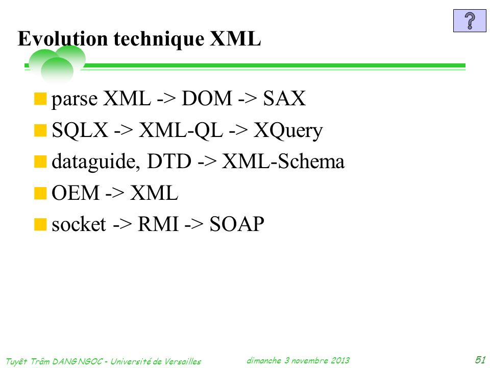 Evolution technique XML