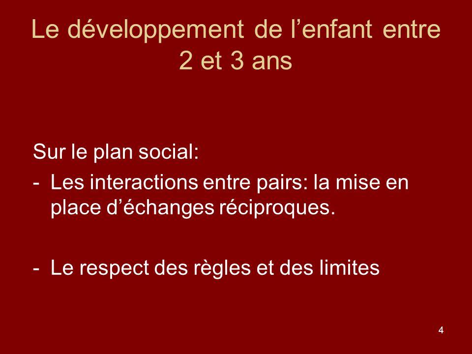 Le développement de l'enfant entre 2 et 3 ans