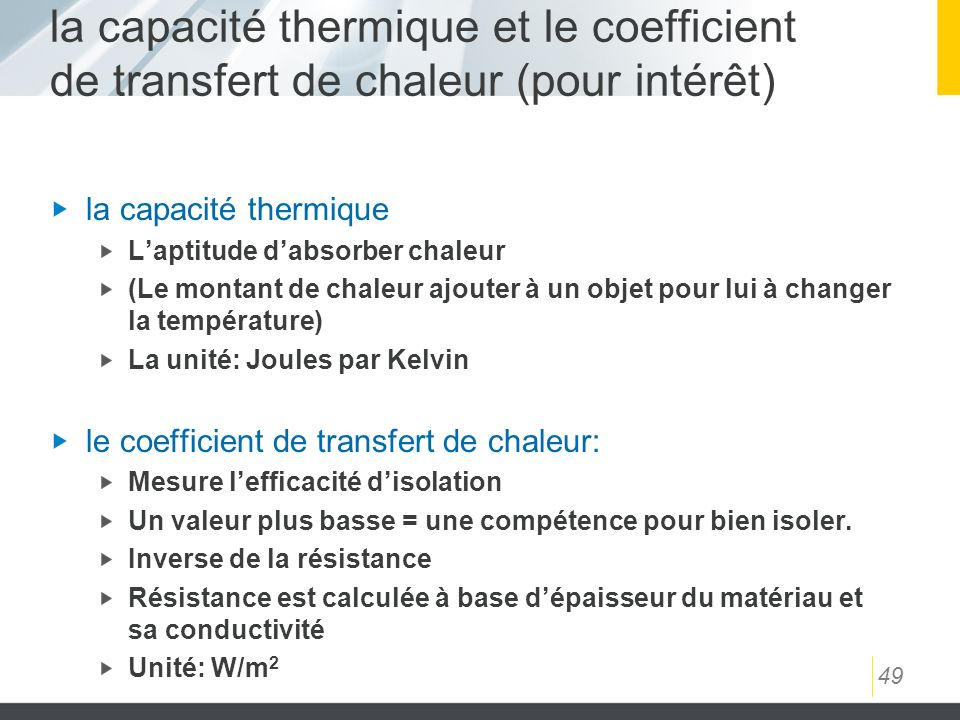 Coefficient de conductivite thermique maison design for Coefficient thermique parpaing et brique