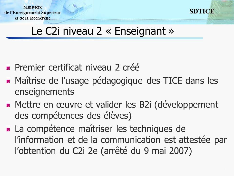 Le C2i niveau 2 « Enseignant »