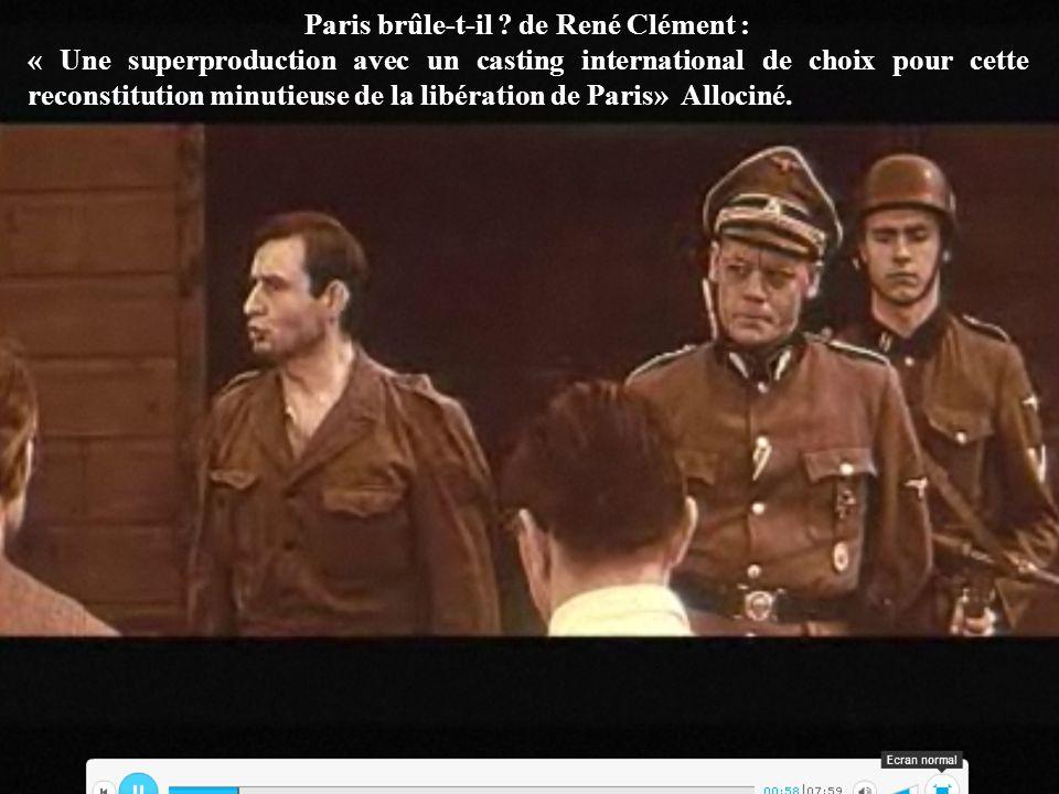 Paris brûle-t-il de René Clément :