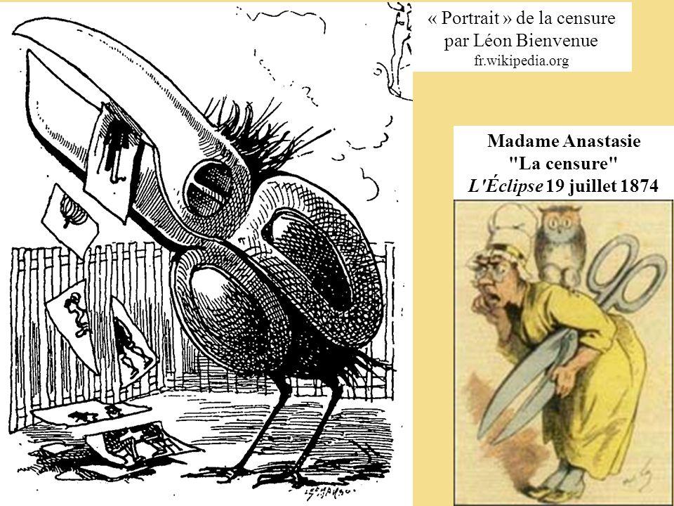 Madame Anastasie La censure L Éclipse 19 juillet 1874