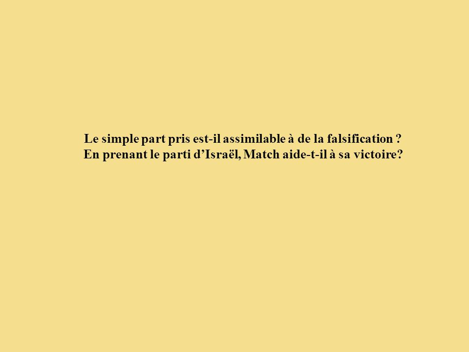 Le simple part pris est-il assimilable à de la falsification