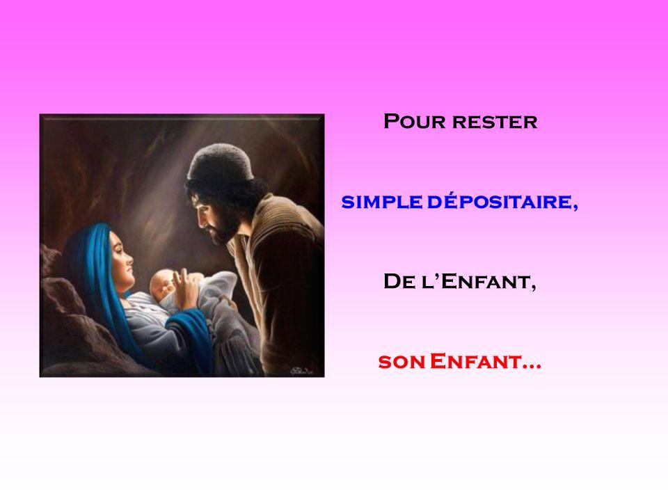 Pour rester simple dépositaire, De l'Enfant, son Enfant... . .
