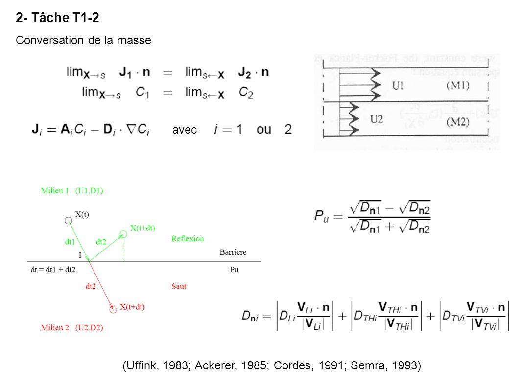 2- Tâche T1-2 Conversation de la masse avec