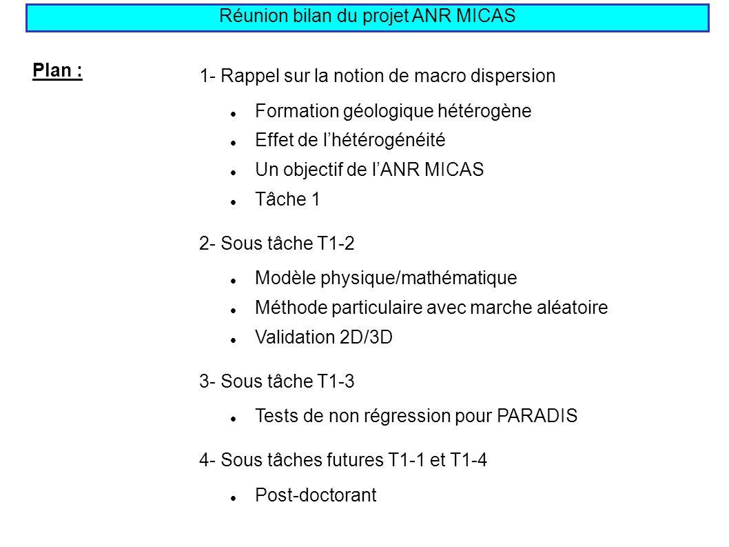 Réunion bilan du projet ANR MICAS
