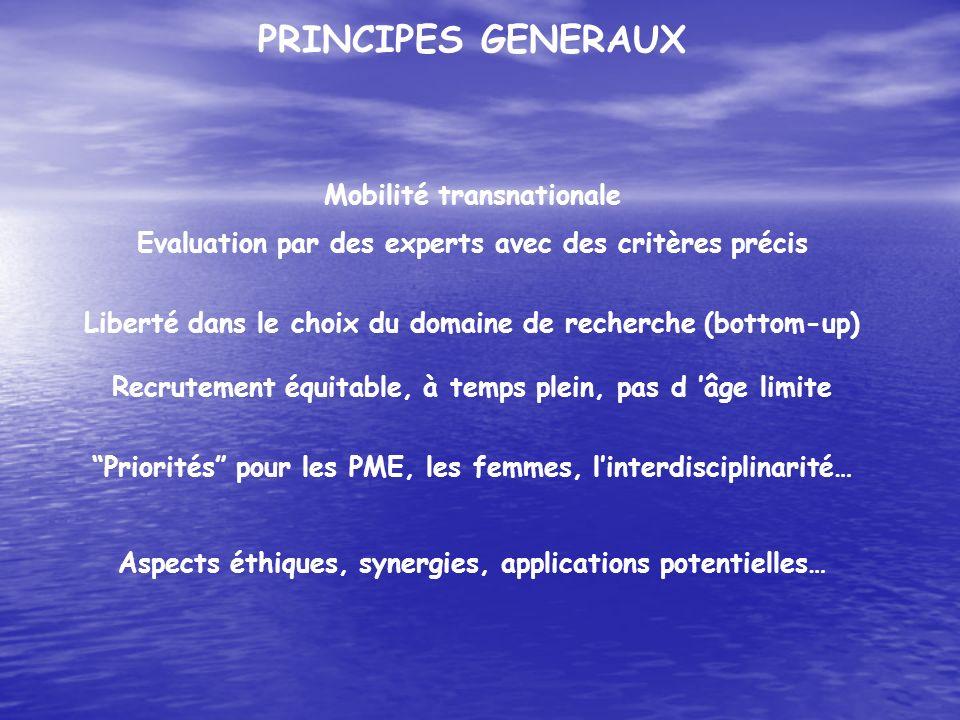 PRINCIPES GENERAUX Mobilité transnationale