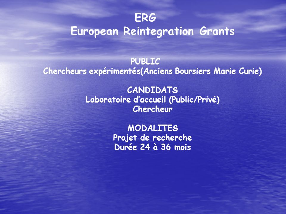 ERG European Reintegration Grants