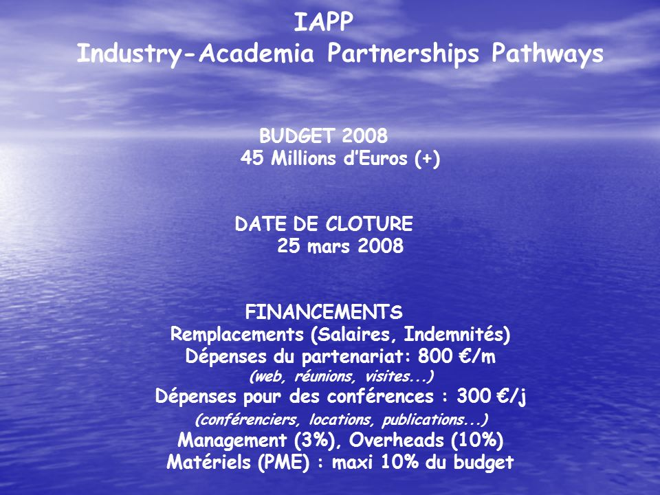 IAPP Industry-Academia Partnerships Pathways