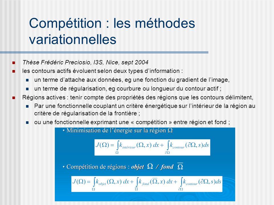 Compétition : les méthodes variationnelles