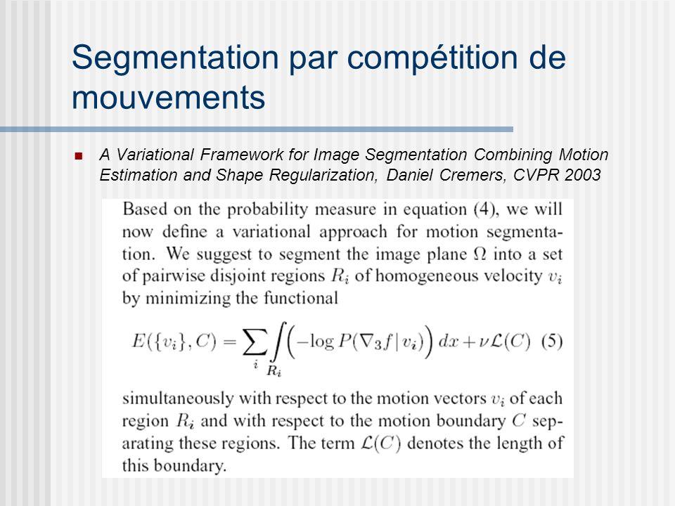 Segmentation par compétition de mouvements