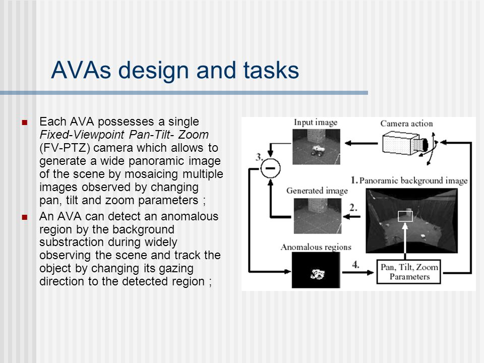 AVAs design and tasks
