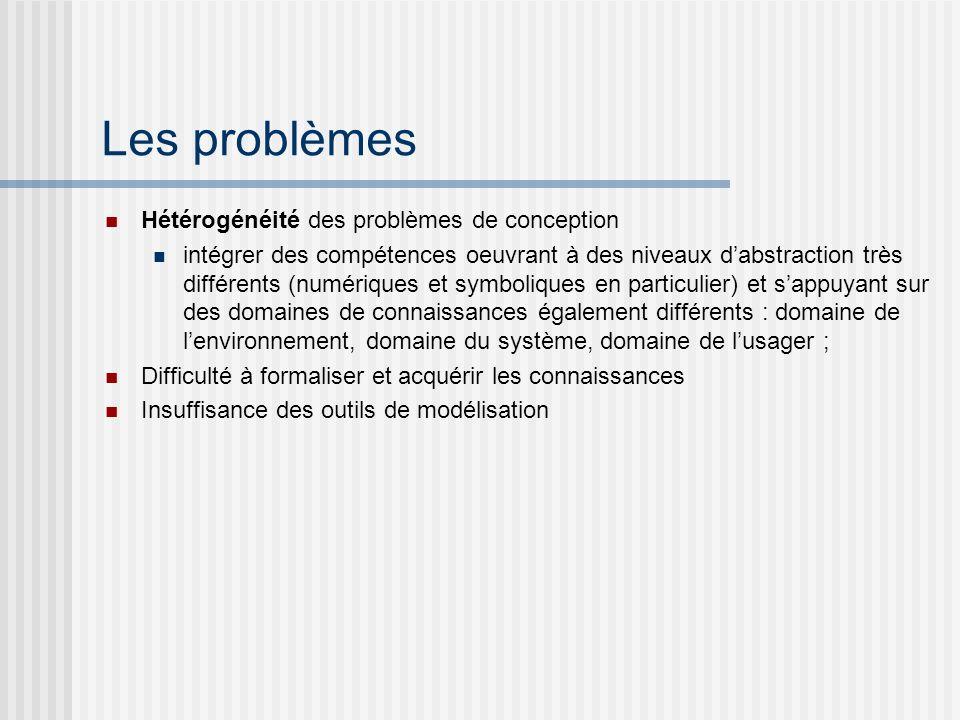 Les problèmes Hétérogénéité des problèmes de conception