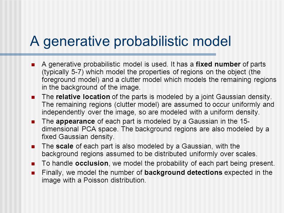 A generative probabilistic model