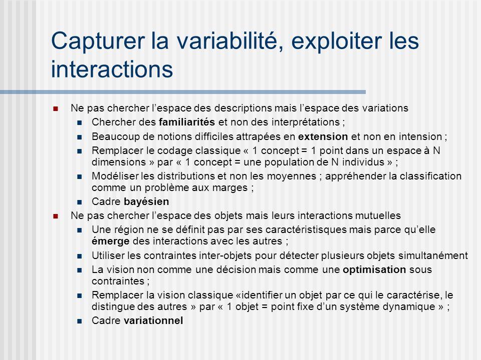 Capturer la variabilité, exploiter les interactions