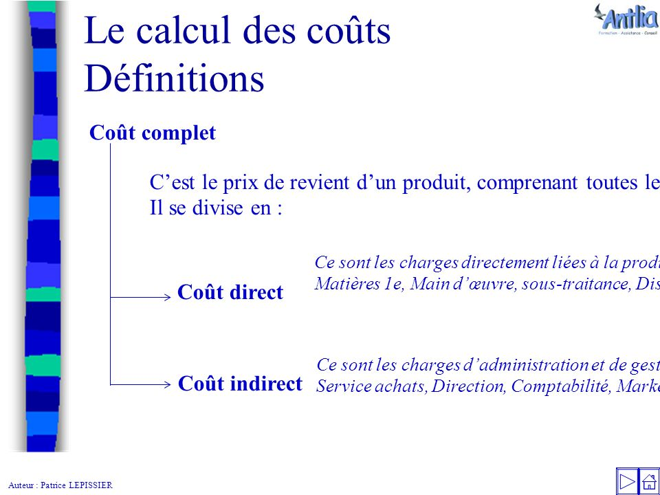 Le calcul des co ts d finitions encha nement des co ts for Cout main d oeuvre batiment