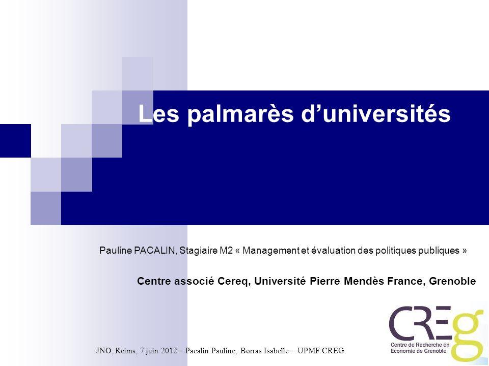Les palmarès d'universités