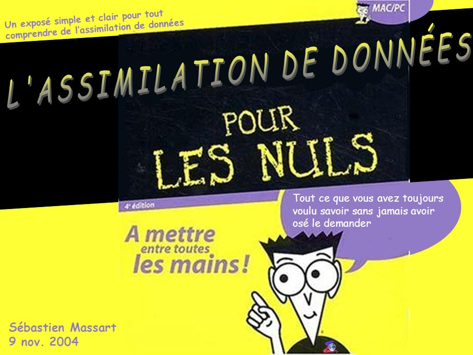 L ASSIMILATION DE DONNÉES