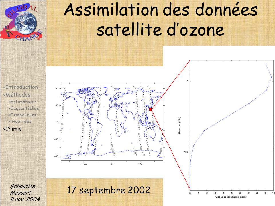 Assimilation des données satellite d'ozone