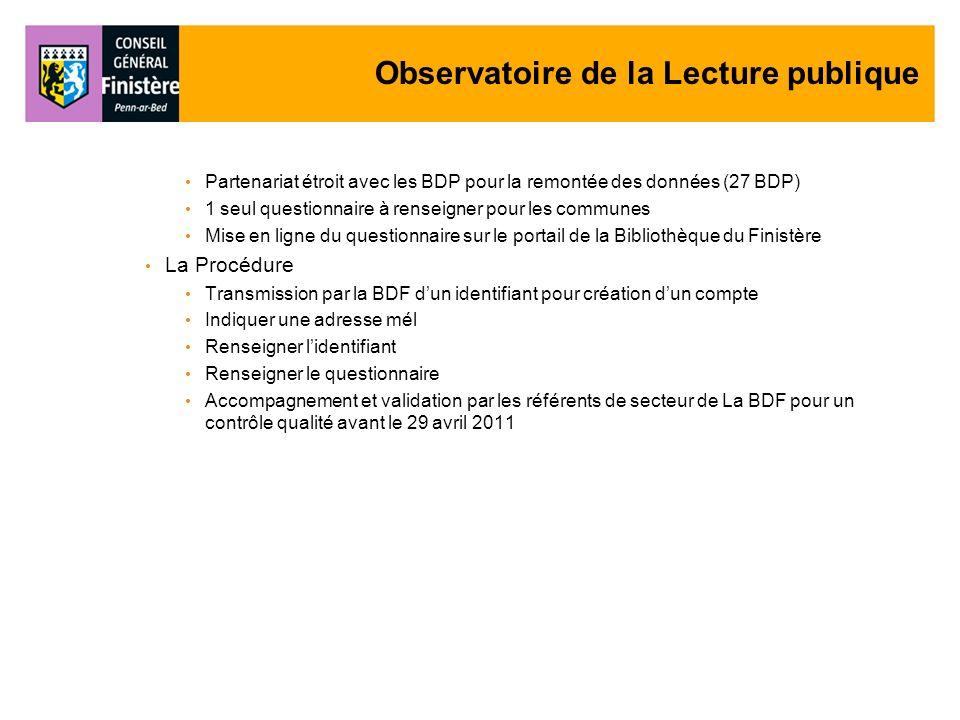 Observatoire de la Lecture publique