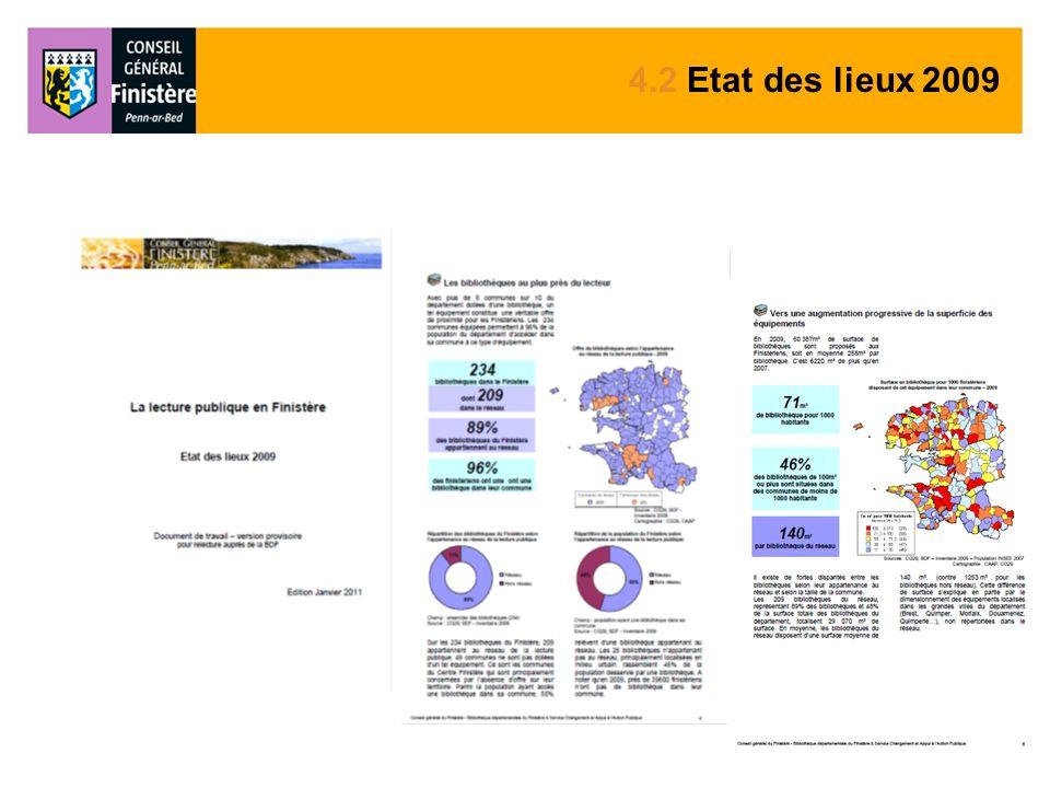 4.2 Etat des lieux 2009
