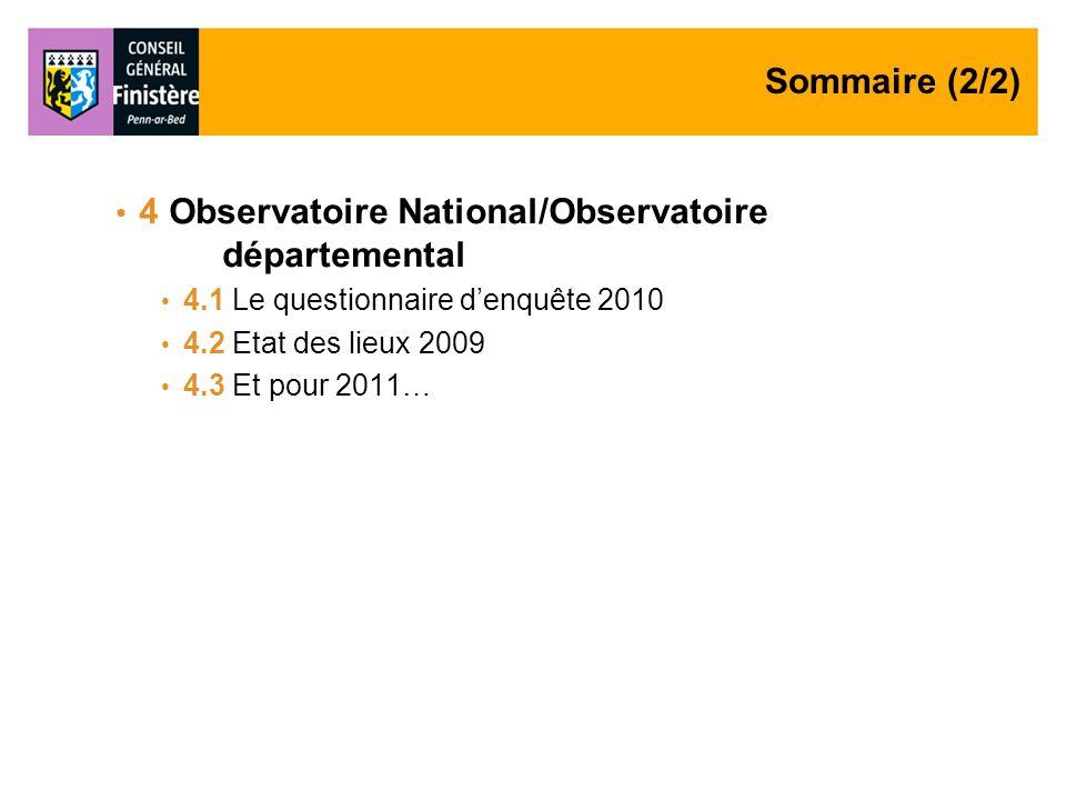 4 Observatoire National/Observatoire départemental