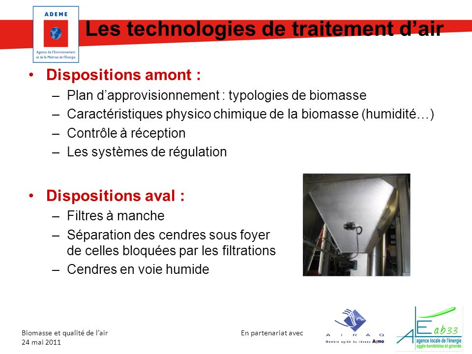 Les technologies de traitement d'air