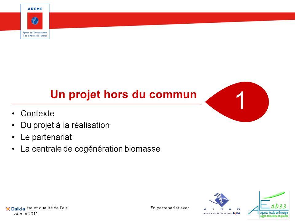 1 Un projet hors du commun Contexte Du projet à la réalisation