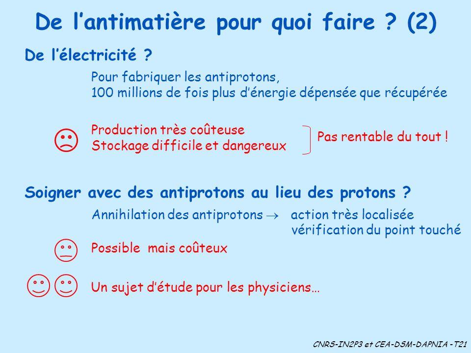 De l'antimatière pour quoi faire (2)