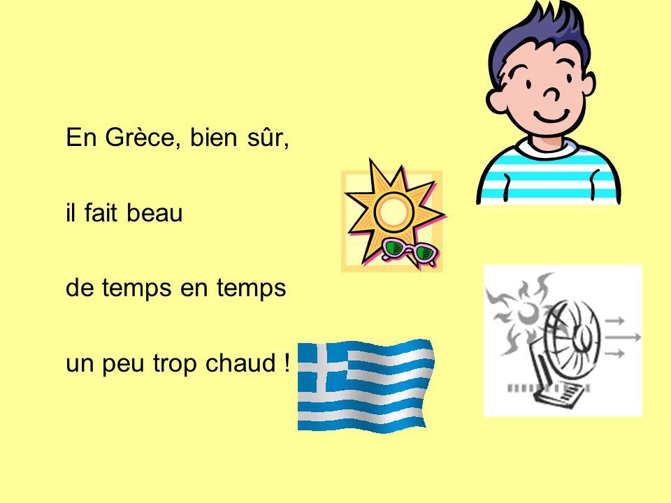 En Grèce, bien sûr, il fait beau de temps en temps un peu trop chaud !