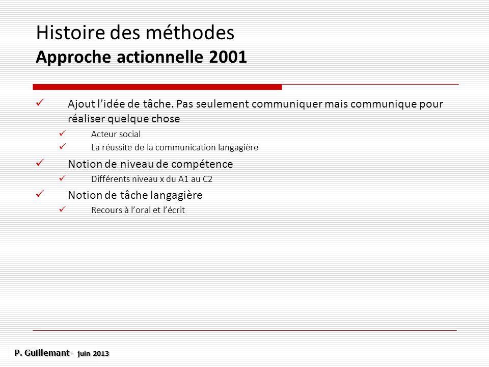 Histoire des méthodes Approche actionnelle 2001