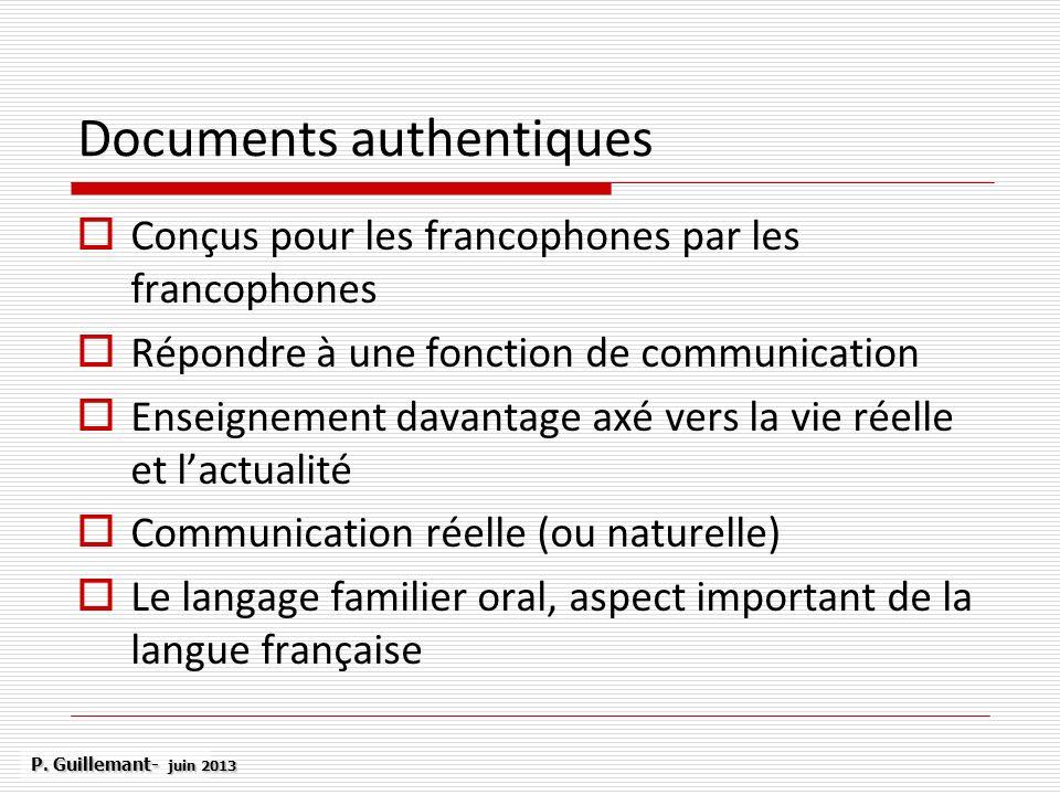 Documents authentiques