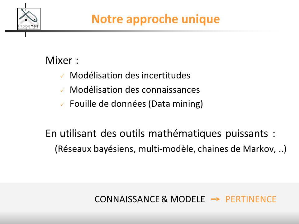 (Réseaux bayésiens, multi-modèle, chaines de Markov, ..)
