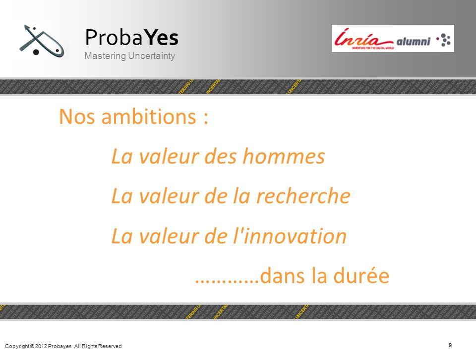 La valeur de la recherche La valeur de l innovation …………dans la durée
