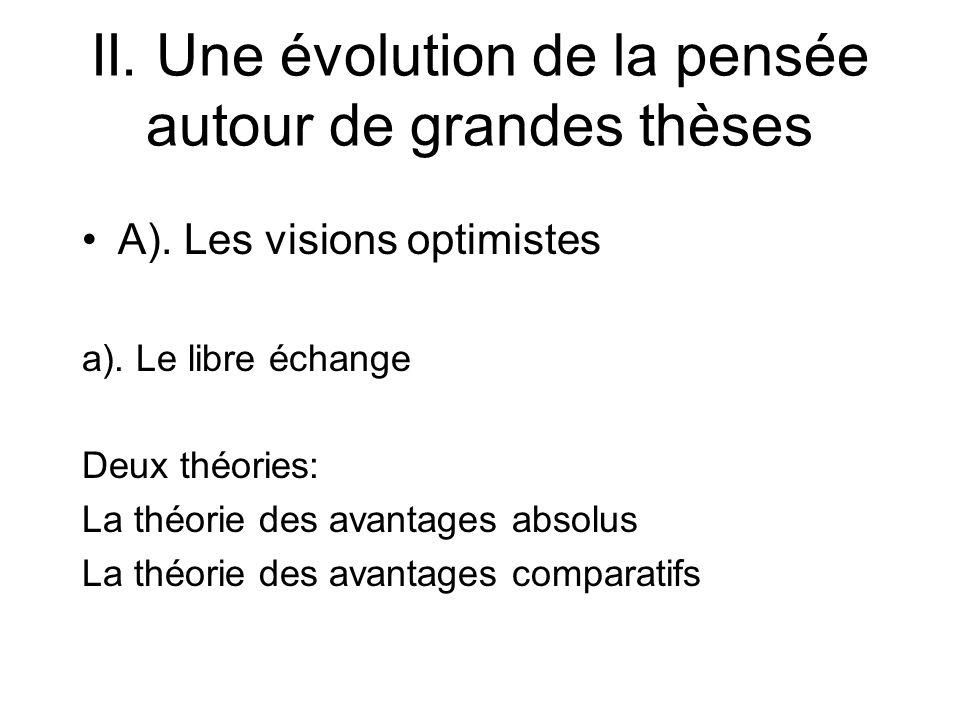 II. Une évolution de la pensée autour de grandes thèses