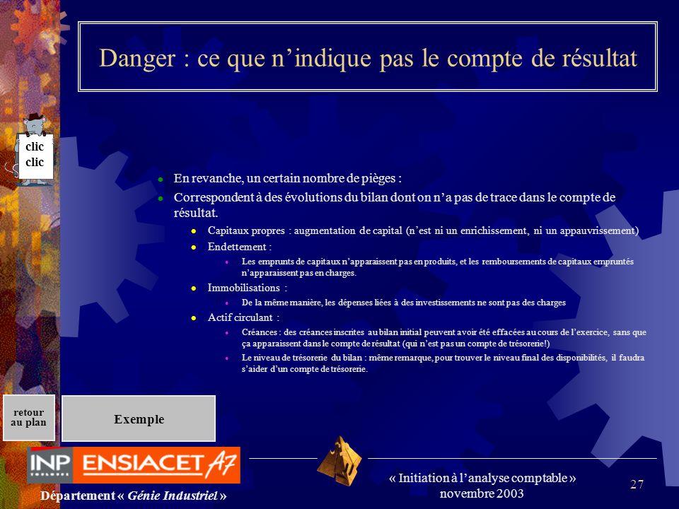 Danger : ce que n'indique pas le compte de résultat