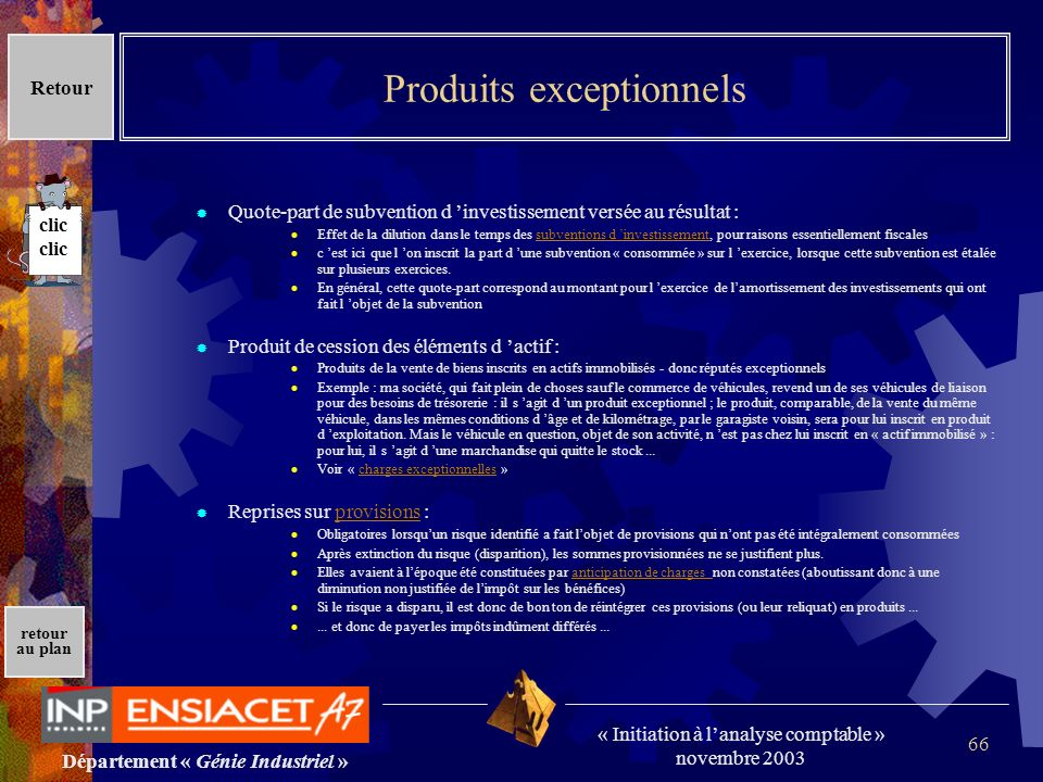 Produits exceptionnels