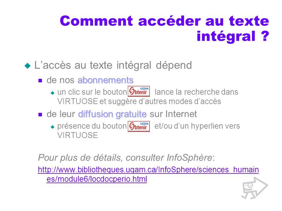 Comment accéder au texte intégral