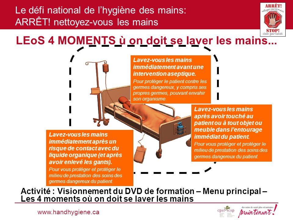 LEoS 4 MOMENTS ù on doit se laver les mains...