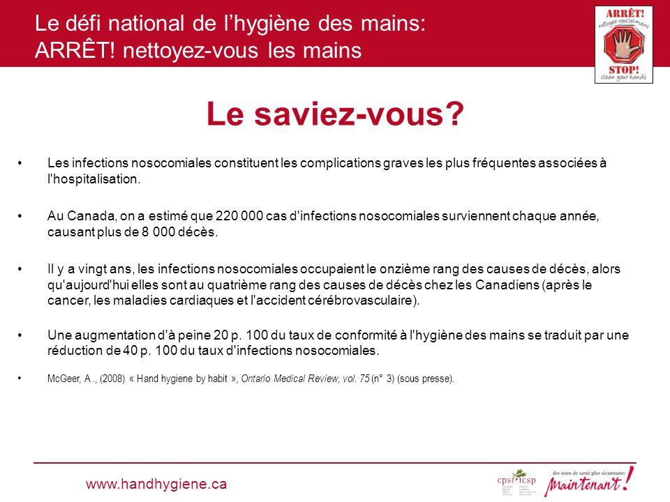 Le saviez-vous www.handhygiene.ca