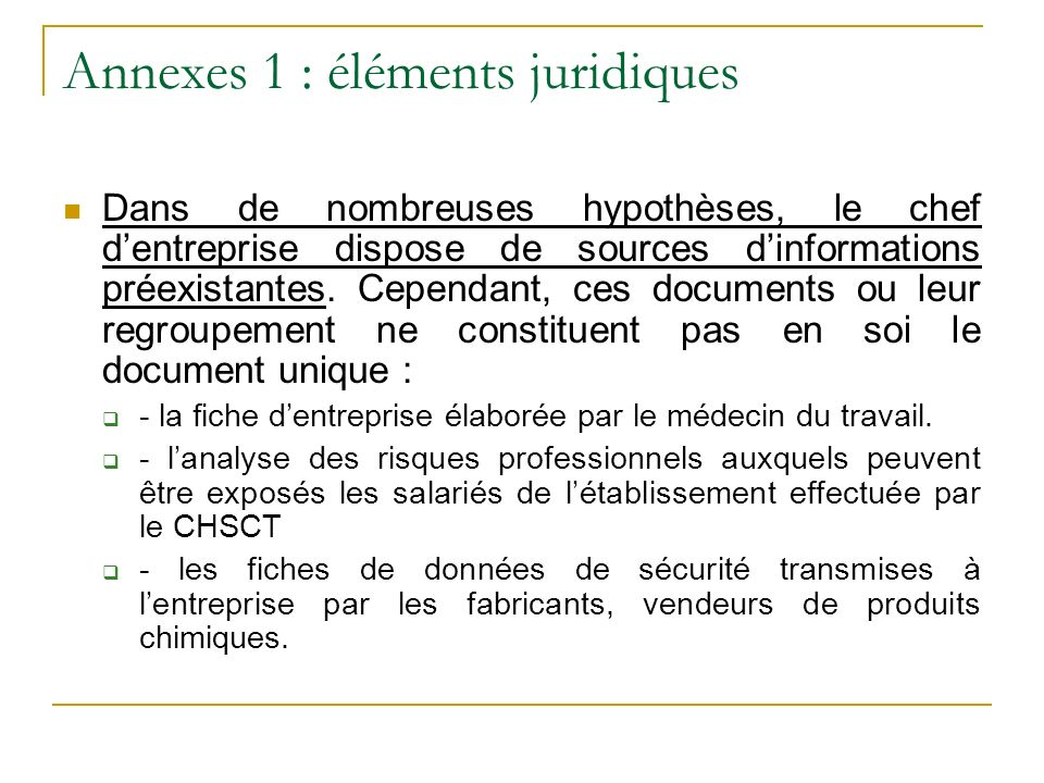 Annexes 1 : éléments juridiques
