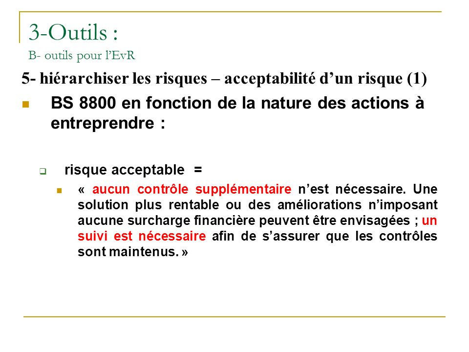 3-Outils : B- outils pour l'EvR