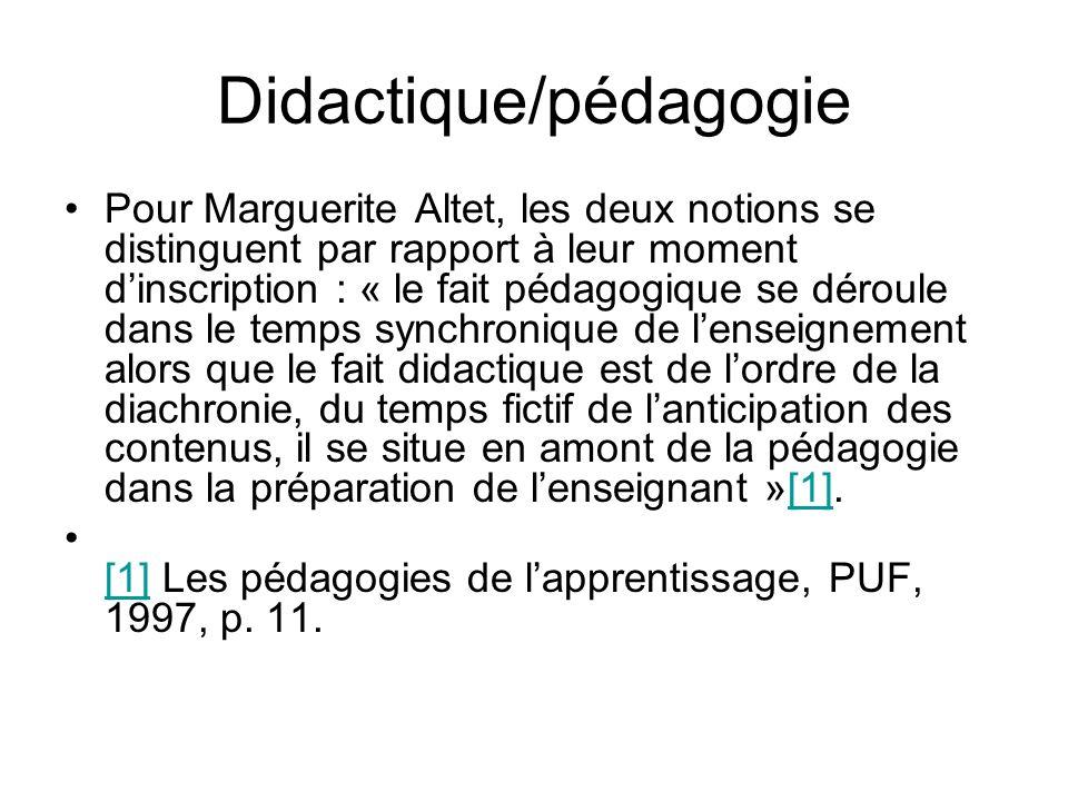 Didactique/pédagogie