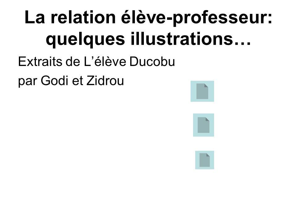 La relation élève-professeur: quelques illustrations…